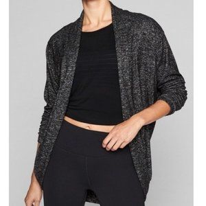 Athleta Luxe Pose Wrap Cardigan in Charcoal
